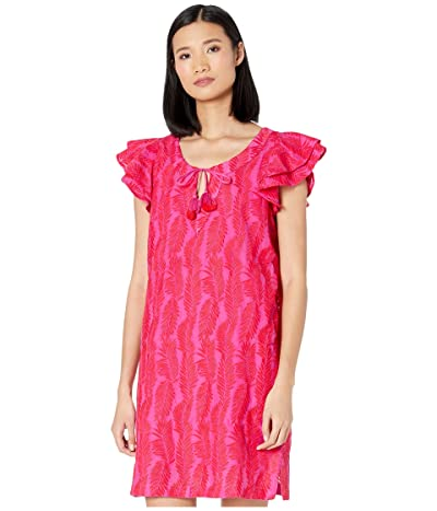 Vineyard Vines Embroidered Palm Vineyard Tunic Dress (Raspberry/Rose) Women