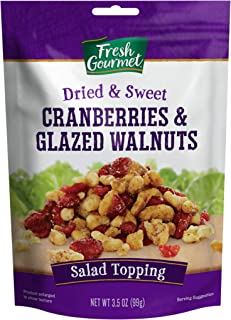 Sponsored Ad - Fresh Gourmet Dried Cranberries & Glazed Walnuts, 3.5 Ounce (Pack of 9)