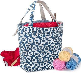 Teamoy Sac Fourre-Tout Ajustable pour Tricot, Sac à Tricoter en Toile pour Aiguilles à Tricoter, Pelote de Laine ou Autres...