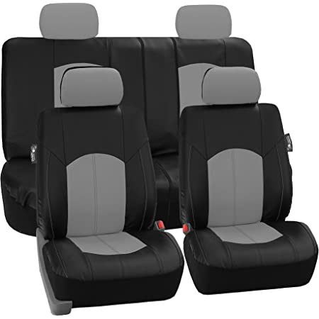 Airbag /& Split Ready Blue//Black Color- Fit Most Car Truck SUV FH Group Limited TIME ONLY FH-PU008114 Perforated Leatherette Full Set Car Seat Covers, or Van