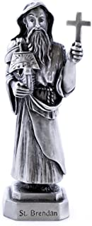 """3.5"""" St. Brendan Bethany Collection Pewter Statue"""