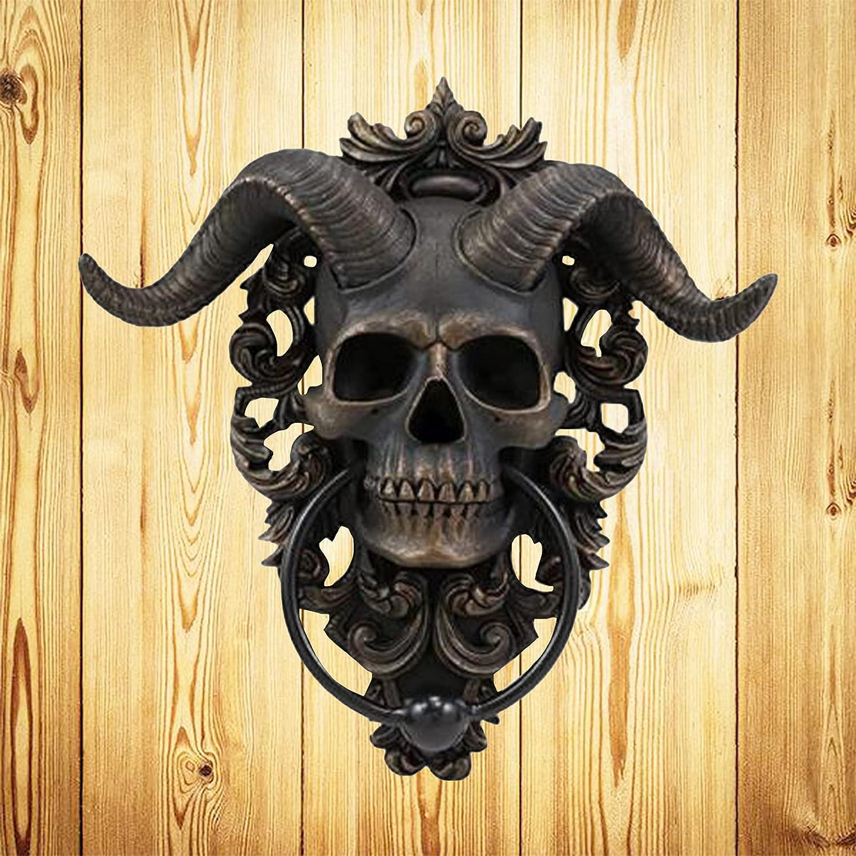 ZMMZ Goat Skull Door Knocker-Resin Heavy Hanging Gothic Do Duty Popular popular Choice