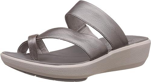 Clarks Wave Bright - Sandalias de Vestir de Piel para mujer gris gris