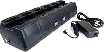 WXTS 6 Bank Charger Tri-Chemistry Charger for Motorola XTS Series Radio Batteries. Equivalent to Motorola WPLN4108B. WB#WXTS6Bank