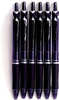 Pilot Acroball Knock Ballpoint Pen, 0.7mm, Black(BAB-15F-BB),6 pens per Pack (Japan Import) [Komainu-Dou Original Package]