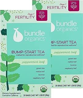 Bundle Organics Bump-Start Tea, Stage 1 Fertility, Peppermint Leaf, 20 Tea Bags (Pack of 2)