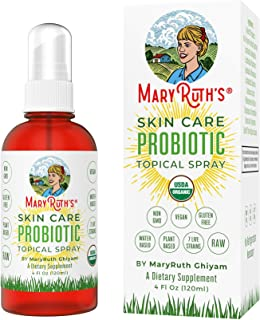 Organic Topical (Skin) Probiotic Spray by MaryRuth's (Plant-Based) USDA Certified Organic Non-GMO, Vegan, Raw, Paleo highl...