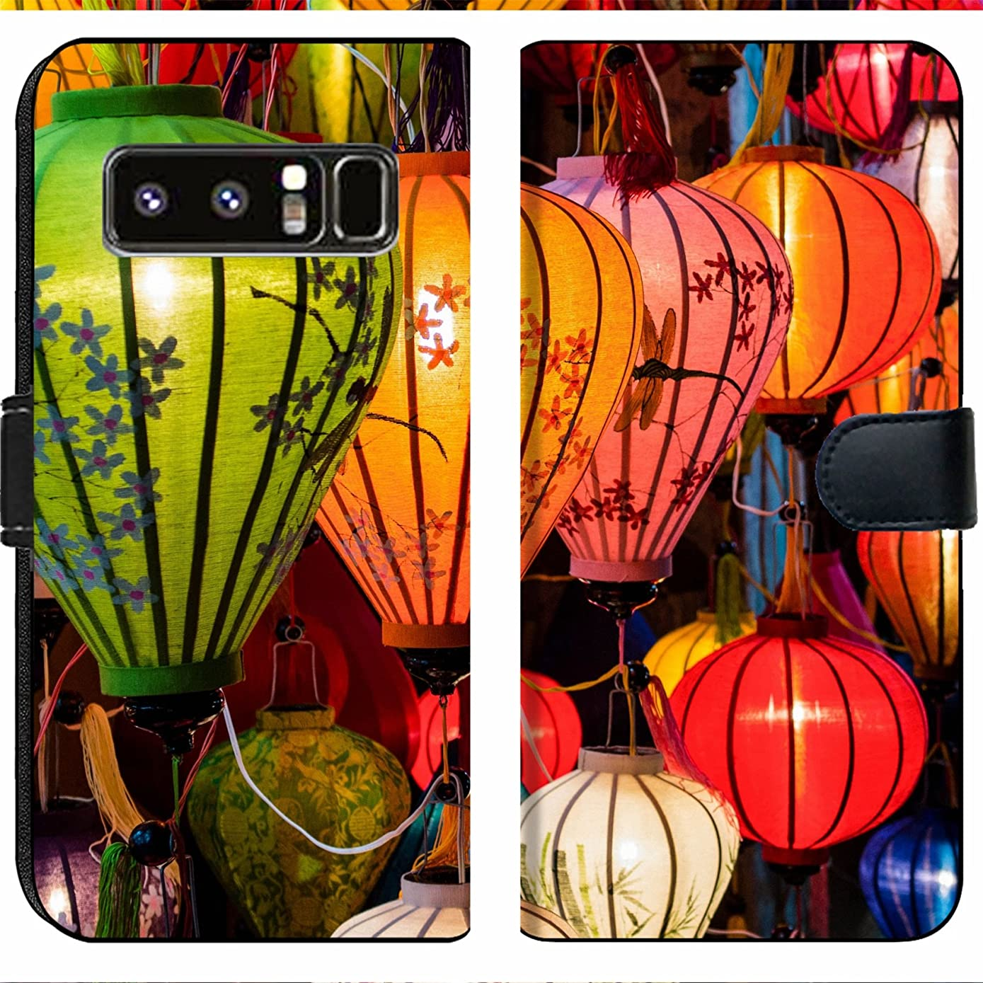 Samsung Galaxy Note 8 Flip Fabric Wallet Case Image ID: 31089698 Traditional Lamps in Old Town Hoi an Central Vietnam