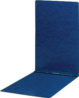 "Smead PressGuard Report Cover, Metal Prong Top Fastener with Compressor, 3"" Capacity, Sheet Size 11"" x 17"", Dark Blue, 10 per Box (81378)"