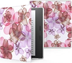 MoKo Case Fits Kindle Oasis (9th Generation, 2017 Release) ONLY, Premium Ultra Lightweight Shell Cover with Auto Wake/Sleep (Not Fit All-New Kindle Oasis 10th Gen 2019) - Floral Purple