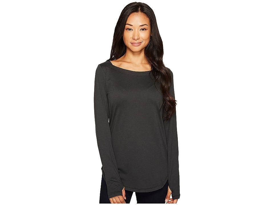 Columbia Place to Place Long Sleeve Shirt (Black Spacedye) Women
