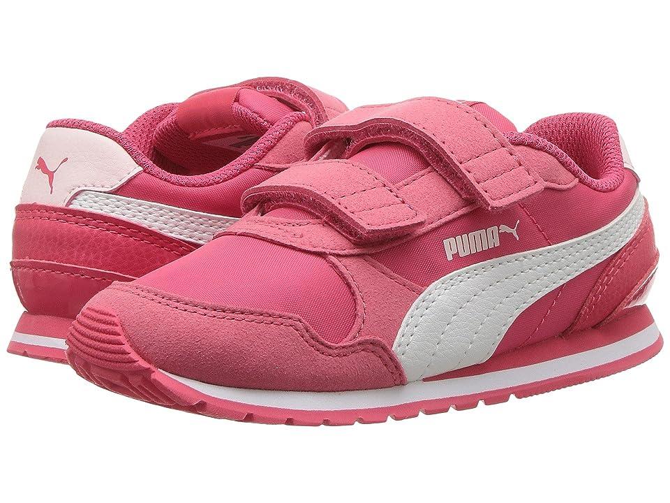 Puma Kids ST Runner v2 NL V (Toddler) (Paradise Pink/Puma White) Girls Shoes