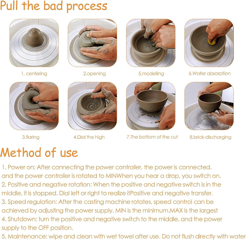 Blau Elektrischer Drehteller Fingerspitze Zeichenmaschine T/öpferei f/ür DIY Keramik Arbeit Ton Kunst Handwerk Mini Elektrisches T/öpferrad T/öpferei Forming Maschine