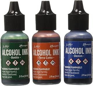 Ranger Adirondack Alcohol Ink 1/2-Ounce, 3-Pack, Rustic Lodge, Bottle/Terra Cotta/Denim