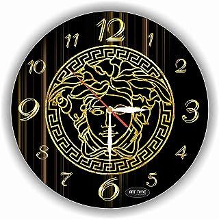Versace Reloj de pared 28 centimetro Mecanismo silencioso reloj de pared hecho a mano exclusivo. Versace artículo único para el hogar y la oficina, regalo original para cualquier ocasión, hecho de vidrio acrílico, plástico
