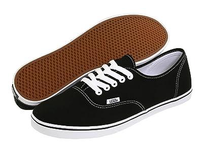 Vans Authentictm Lo Pro (Black/True White) Skate Shoes