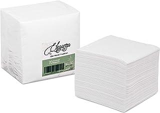 GreenOlive White Cocktail Napkins – 70 Pack Beverage Napkins – Premium Thick Linen Feel Paper Restaurant Bar Napkins for D...