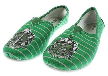 Harry Potter Slytherin Canvas Slip On Shoes