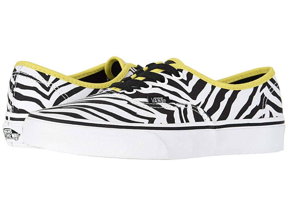 Vans Authentictm ((Zebra) Green Sheen/True White) Skate Shoes