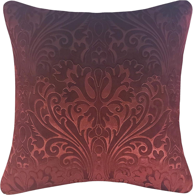 Edie At Home Velvet excellence Round 20x20 Branded goods Pillow Merlot Decorative