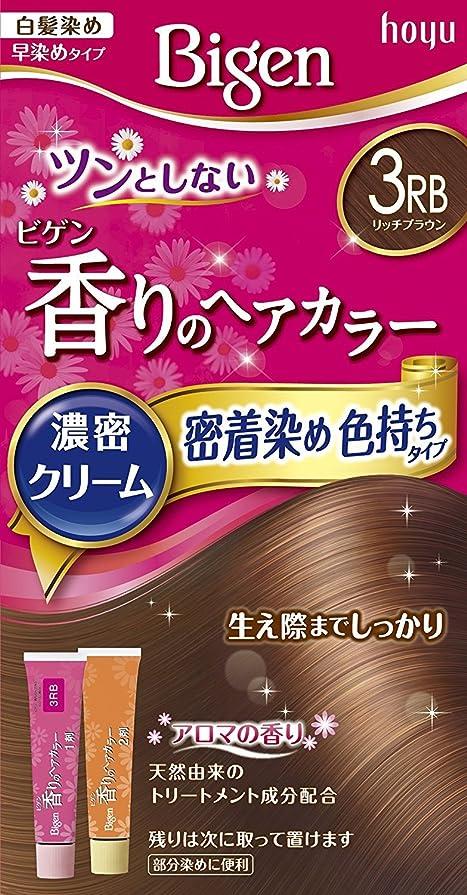 クッション天才広大なホーユー ビゲン香りのヘアカラークリーム3RB (リッチブラウン) 40g+40g ×3個