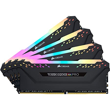 Corsair Vengeance RGB PRO - Kit de Mémorie Enthousiaste (32Go (4x8Go), DDR4, 3200MHz, C16, XMP 2.0) Eclairage LED RGB dynamique - Noir