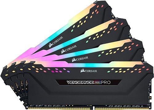 Mémoire de Bureau Corsair Vengeance RGB Pro 32 Go (4x8 Go) DDR4 3600 (PC4-28800) C16 - Noire