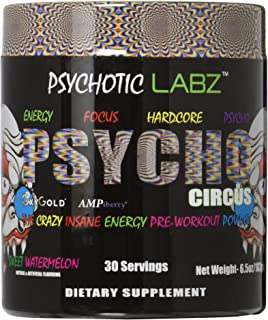 Psychotic Labz Psycho Circus Supplement, Sweet Watermelon, 6.5 Ounce