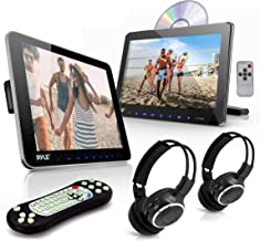 Universal Car Headrest Mount Monitor - 10.5 Inch Vehicle Multimedia DVD Player - Dual Audio Video Entertainment w/HDMI, Wi...