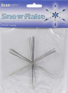 Metal Wire Snowflake Forms - Fun Craft Beading Project 4 1/2 Inches