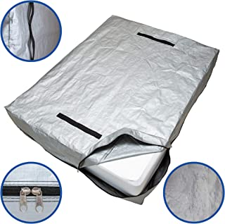 Caloona Inc Mattress Bags for Moving and Storage-Reusable Mattress Cover for Moving with Reinforced Handles and Heavy Duty Zipper. Mattress Storage Bag Queen, King, Full, Twin Sizes (Full)