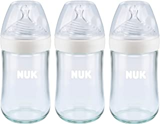 NUK Simply Natural Glass Bottles, 8 Oz, 3 Pack