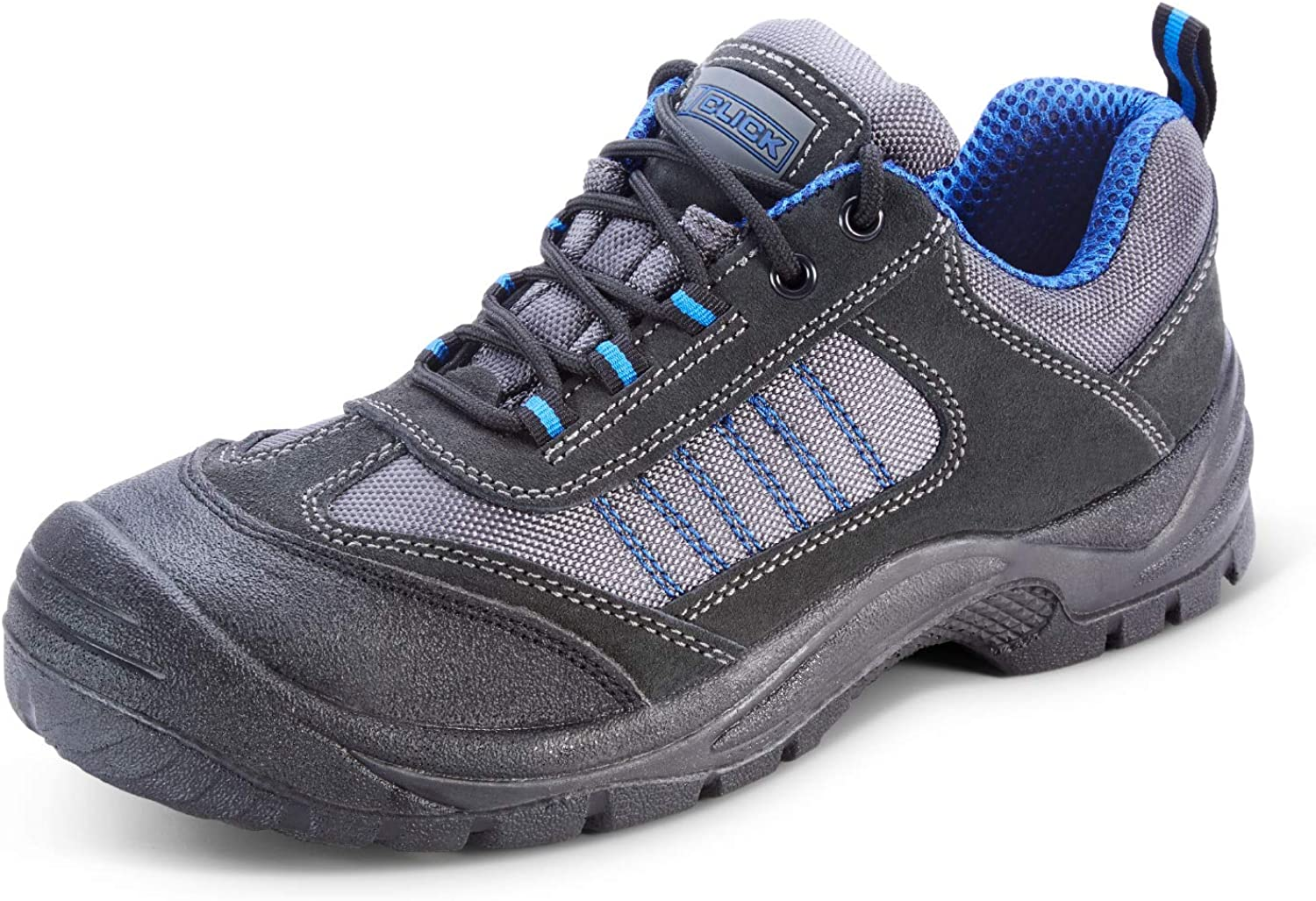 Safety Footwear Black bluee Dual Density Trainer shoes Sizes 5-13 HGCF17BS