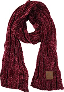 C.C Women's Ultra Soft Chenille Ribbed Thick Warm Knit Shawl Wrap Scarf