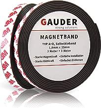 Tira magnética GAUDER A + B para mosquiteras |  Cinta magnética adhesiva |  Fuerte imán de doble rodillo