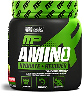 MusclePharm Amino 1 Powder, Hydration and Recovery, Cherry Limeade, 30 Servings