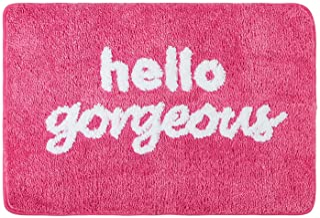 "Fancy Soft Water Absorbent Bathroom Rug Shag Microfiber Shower Bath Rug Washable Pink Purple Plush Bath Mat 19.6"" x 27.5""..."