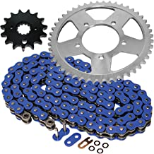Caltric Blue O-Ring Drive Chain & Sprockets Kit Fits SUZUKI GSF600S GSF-600S Bandit 600 2000-2003