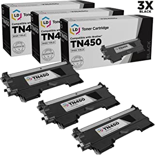 LD © Compatible with Brother Set of 3 TN450 High Yield Toner Cartridges for DCP-7060D, DCP-7065DN, HL-2130, HL-2132, HL2230, HL-2240, HL2240D, HL-2242D, HL-2250DN, HL-2270DW, HL-2280DW, Intellifax 2840, Intellifax 2940, MFC-7240, MFC7360N, MFC-7460DN and MFC-7860DW Printers