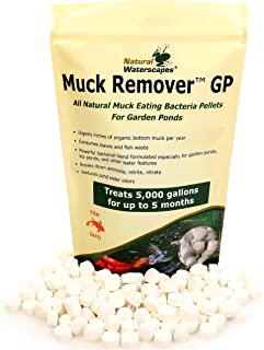 Natural Waterscapes Muck Remover GP - 150 Pellets | Koi Pond Sludge Remover | Safe for Fish | Treats 5,000 Gallons up to 5 Months