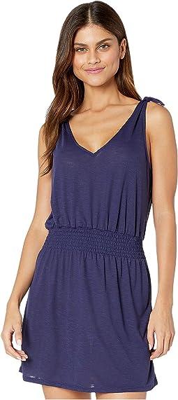 Breezy Basics Tie Shoulder Dress Cover-Up