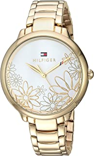 Tommy Hilfiger Womens Quartz Watch with Gold-Tone-Stainless-Steel Strap, (