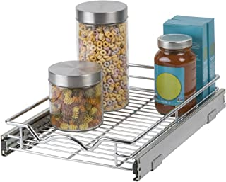 Slide Out Cabinet Organizer - Chrome One Tier 11