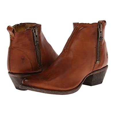 Frye Sacha Moto Shortie (Cognac Smooth Vintage Leather) Women