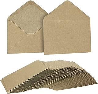 Juvale Kraft Invitation Envelopes (100 Count), 4.75 x 6.5 Inches