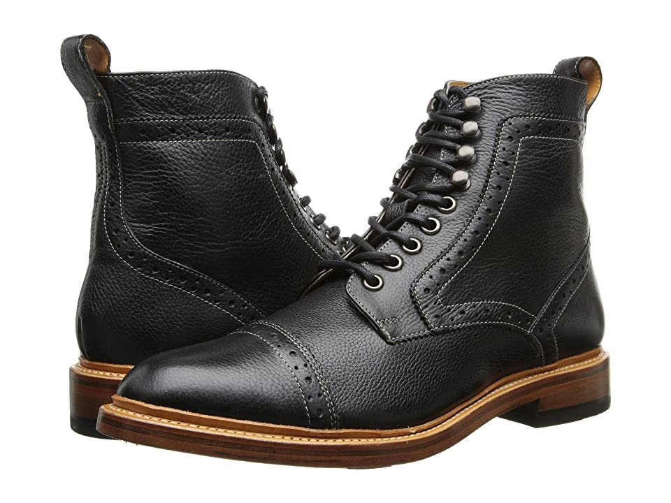Stacy Adams Madison II (Black Milled Leather) Men