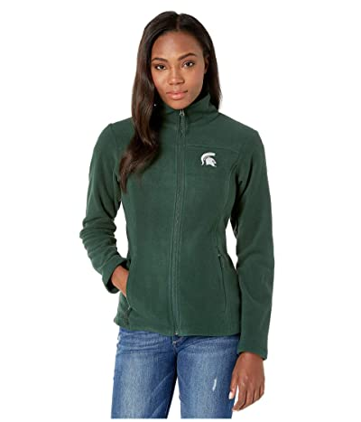 Columbia College Michigan State Spartans CLG Give and Gotm II Full Zip Fleece Jacket (Spruce) Women
