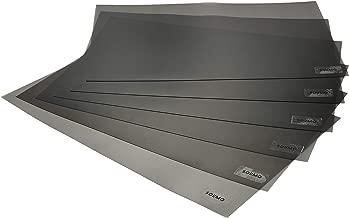 Amazon Brand - Solimo PVC Fridge Multipurpose Mat, Set of 6, Black