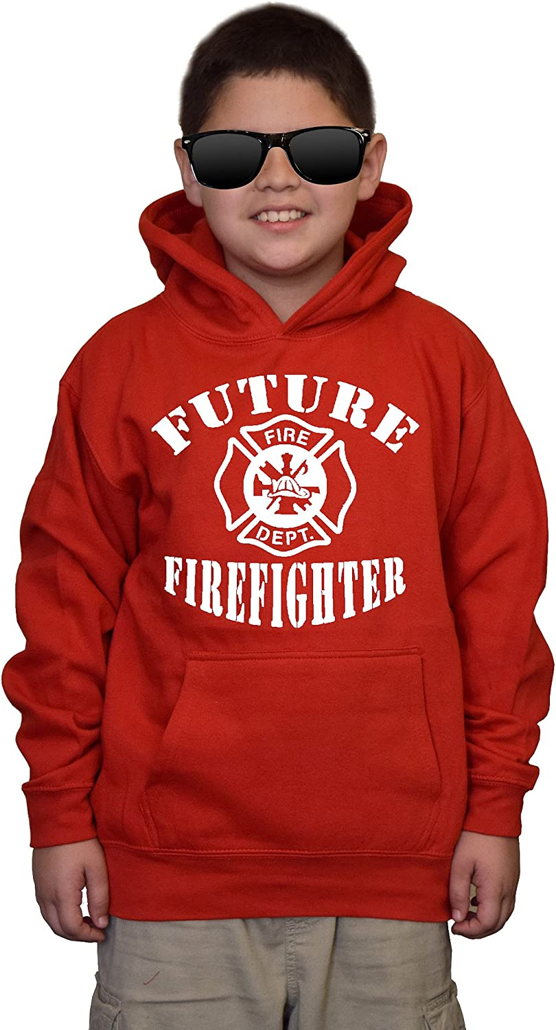 Youth Future Firefighter V486 Hoodie Sweatshirt Red Ranking TOP2 Kids Al sold out.