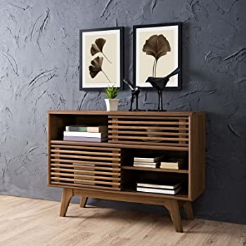 Modway Render Mid-Century Modern Two-Tier Display Stand